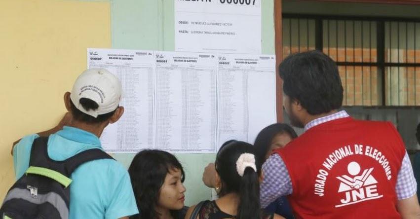 JNE aprueba padrón electoral para proceso de revocatoria 2017 - www.jne.gob.pe