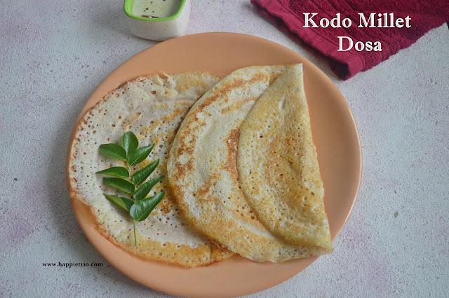 Kodo Millet Dosa | Varagu arisi dosa | Millet Recipes