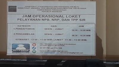 Cara Mendapatkan Nomor Pendaftaran Barang (NPB) Serta NRP-TPP SIR Dit Standalitu Kemendag R.I
