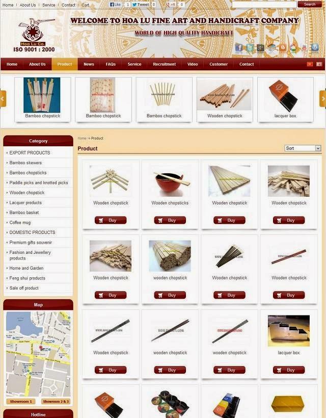 thiết kế website bán hàng thủ công mỹ nghệ giá rẻ