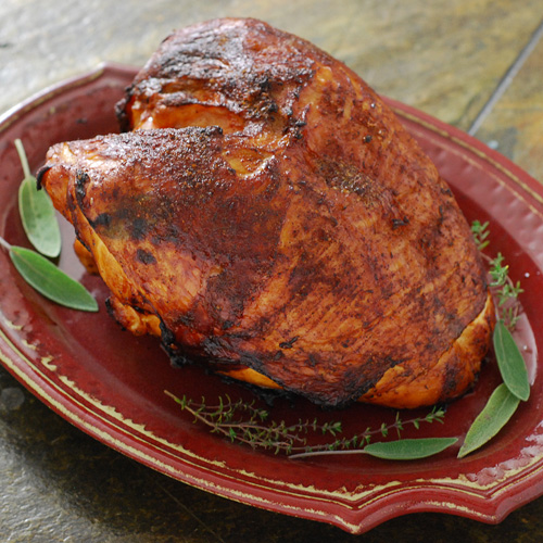 charcoal grilled turkey breast