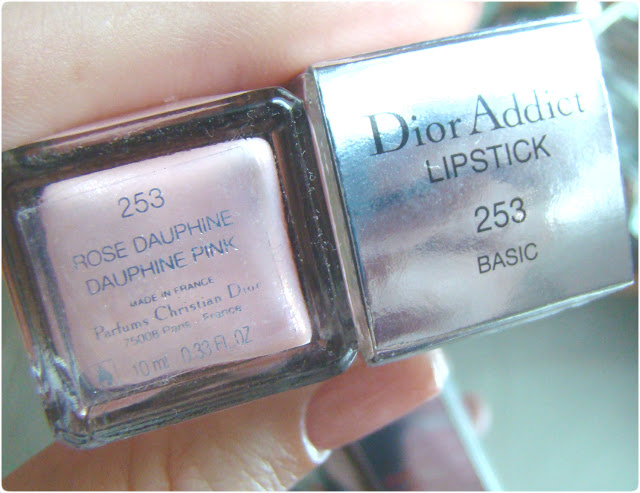 Dior Vernis Nail Polish 253 Rose Dauphine & Dior Addict Lipstick 253 Basic