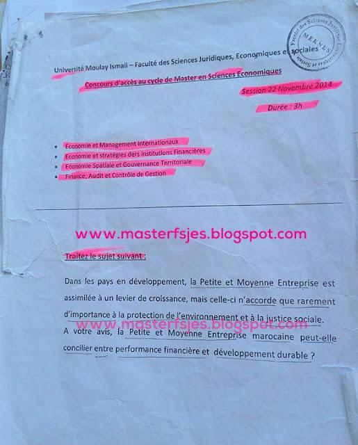 Concours Master FACG et ESIF et EMI et ESGT