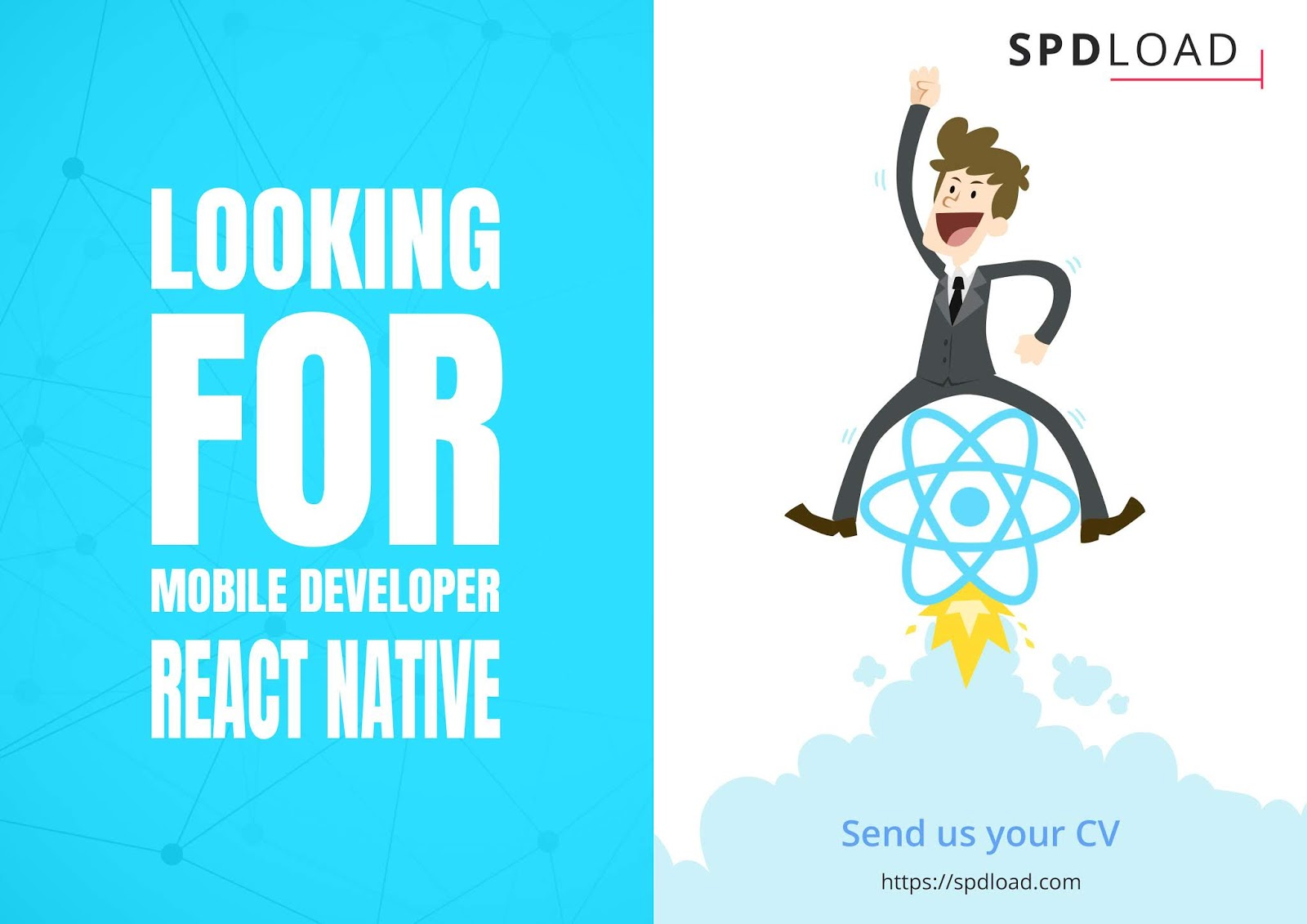 SPDLOAD looking for React Native developer onboard (React.JS, React Native, Redux)