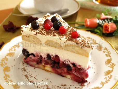 Nepečená smotanová torta s ovocím - recepty