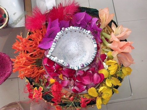Dews the school panchkula pooja thali decoration for Aarti thali decoration ideas for competition
