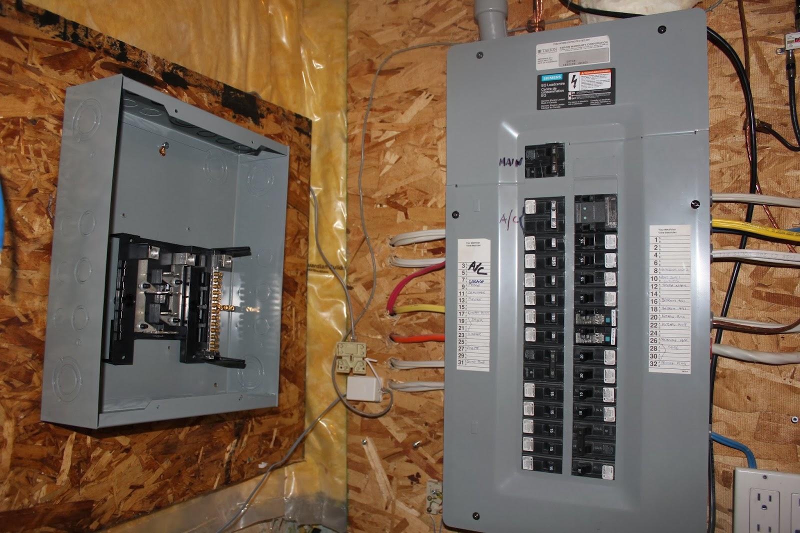 100 Breaker Box Wiring Diagram Basement Reno Sub Panel Installation