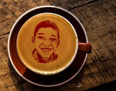cara membuat efek latte art atau foto pada kopi dengan photoshop
