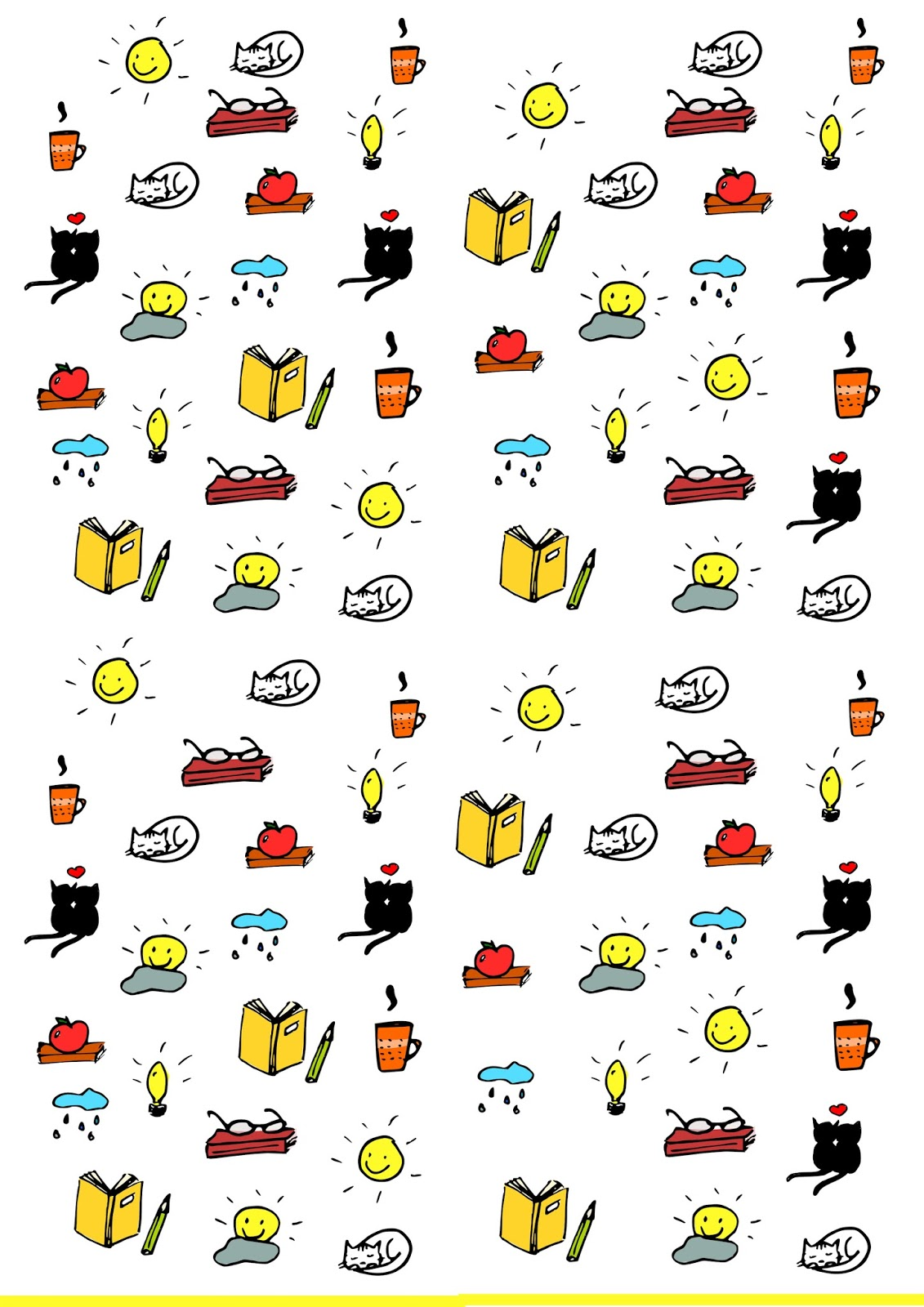 Bright image in printable sticker sheet