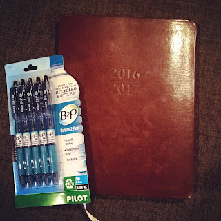 gallery leather day planner and bottle to pen recycled pilot pens