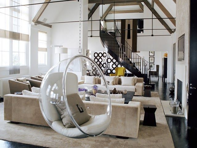 kelly hoppen interior with bubble chair