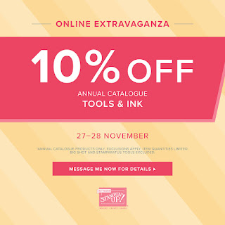 2018 Stampin' Up! Online Extravaganza Black Friday Weekend and Cyber Monday Craft Offers from Mitosu Crafts UK