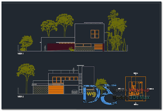 Dwelling house in AutoCAD
