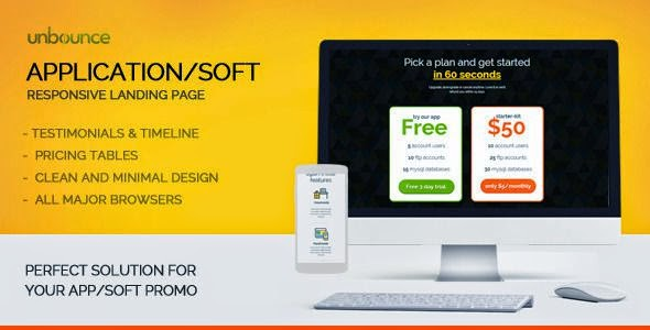 Software, Application, Hosting Promo Landing Page