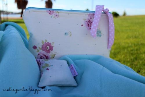 Conjunto de bebé em tecido - bolsa