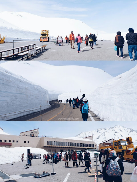 snow wall in tateyama kurobe alpine route