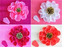 Cara Membuat Bunga Dari Kertas Krep Yang Mudah Dan Cantik