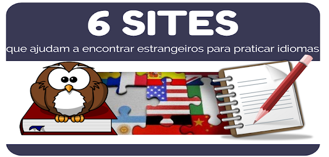 Lista sites que facilitam o encontro de interessados no intercâmbio linguístico