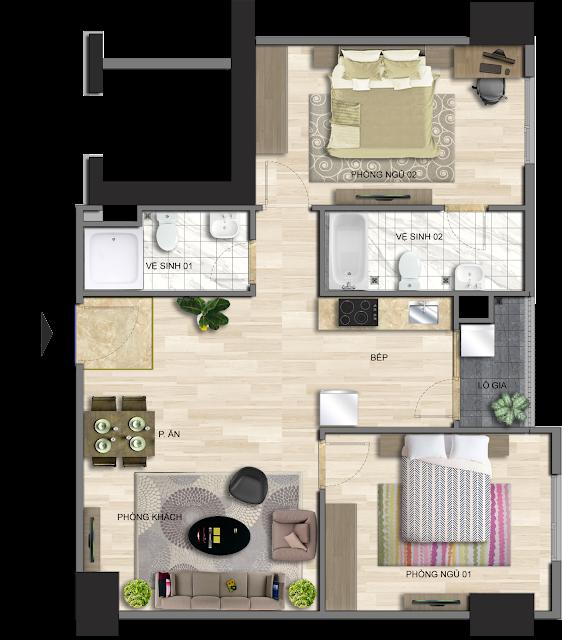 Thiết kế căn hộ điển hình dự án EuroWindow River Park