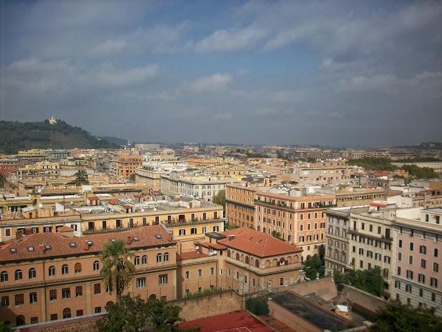 vistas de los tejados de roma