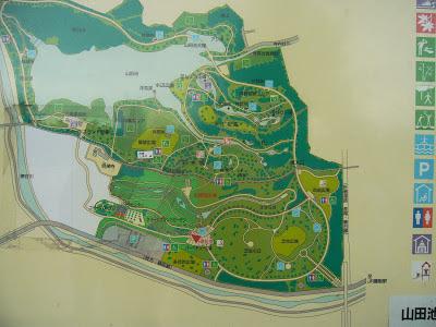 大阪府枚方市・山田池公園 地図