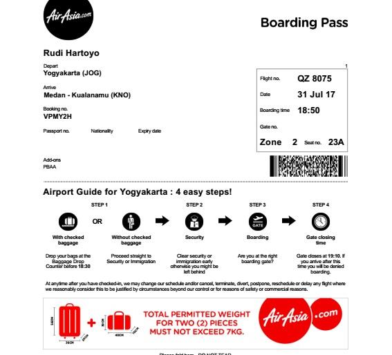Inilah Cara Self Check-In Pesawat AirAsia Melalui Web