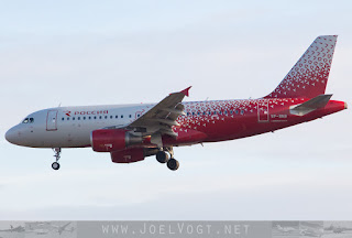 Airbus A319 of Rossiya Airlines at Geneva, Switzerland
