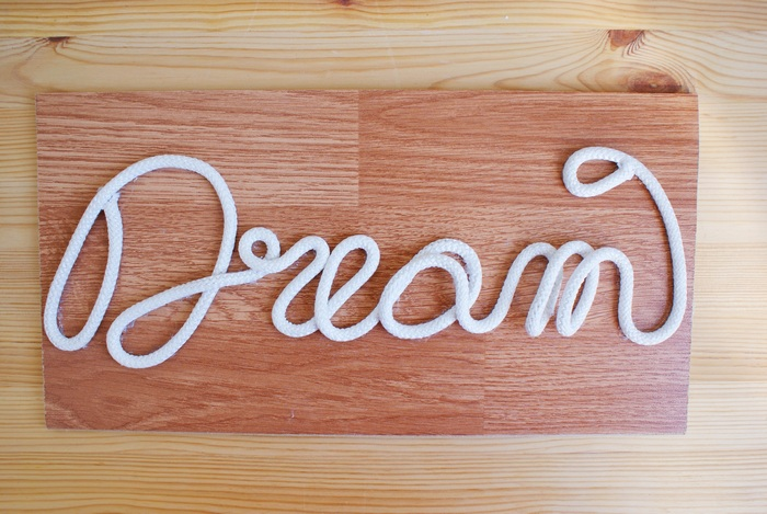 diy wood rope sign decoration