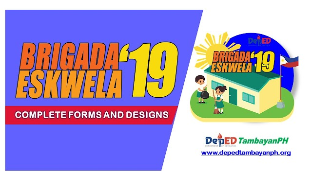 Brigada Eskwela 2019 Forms and Official Designs