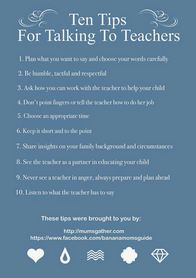 Ten Tips For Talking To Teachers