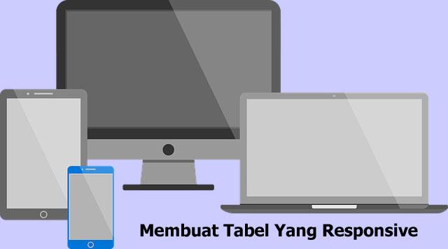 membuat tabel yang responsive