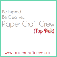 I was a Top Pick at the Paper Craft Crew!