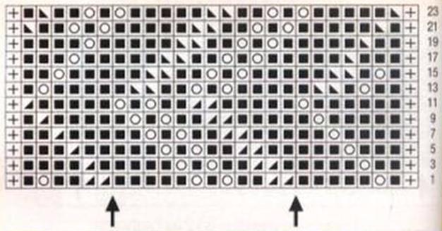 схема вязание на спицах