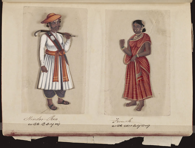 Hindoo peon and Female