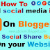 How to Add Social Media Icons To Blogger