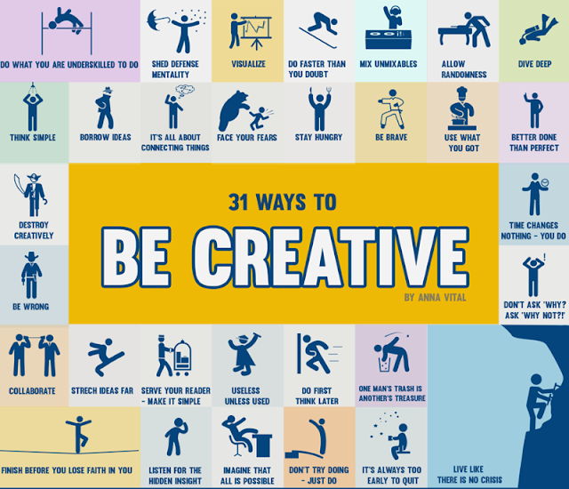 31 ways to be creative