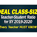 IDEAL CLASS-SIZE for SY 2019-2020 (Every Teacher Must Know)