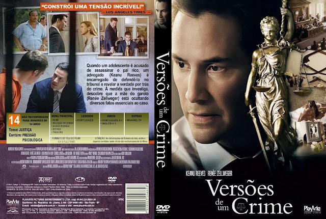 Capa DVD Versões de um Crime [Exclusiva]