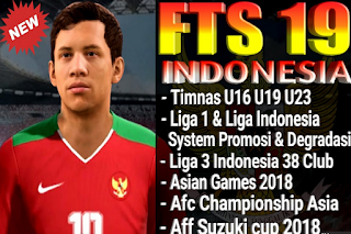 Download Fts 19 Indonesia National Squad Amount U16 U19 U23 Asian Games 2018