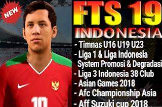 FTS 19 Indonesia National Team Full U16 U19 U23 Asian Games 2018