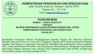 CPNS 2017; Formasi Kemdikbud