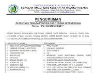 Rekrutmen Tenaga Pendidik dan Tenaga Kependidikan STIKES Maluku Husada Tahun 2017