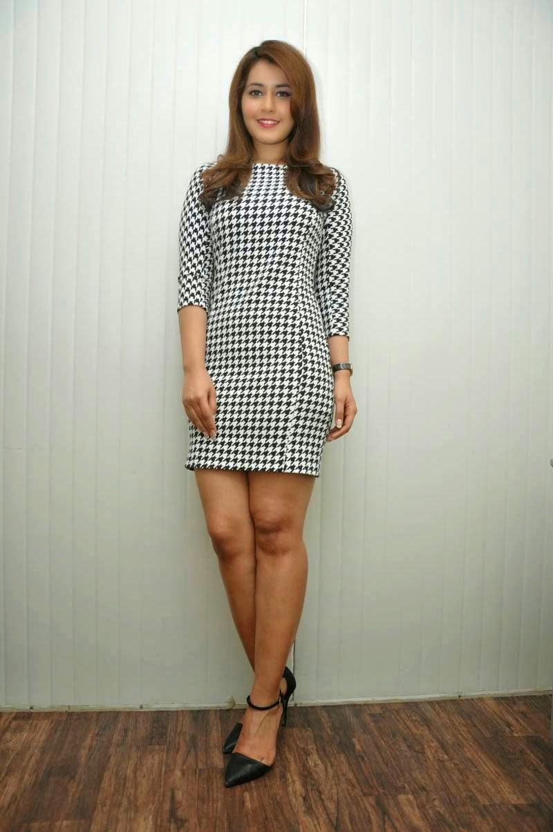Telugu Girl Rashi Khanna Long Legs Thighs Show Stills