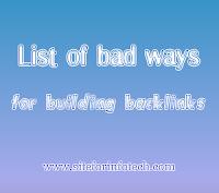 List of bad ways for building backlinks