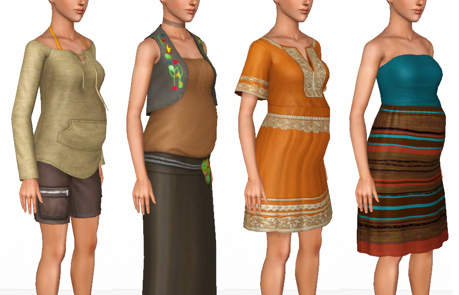 My Sims 3 Blog: All Island Paradise's Maternity Enabled