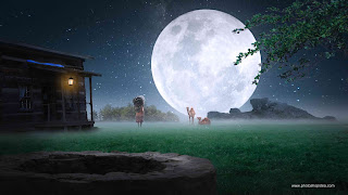 nature background, night background with moon, moon background, hd nature background, background for editing