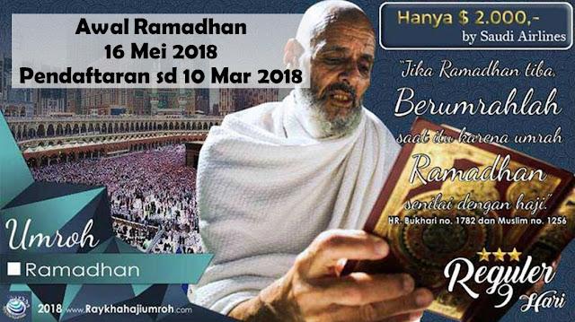 Paket Umroh Awal Ramadhan Mei 2018