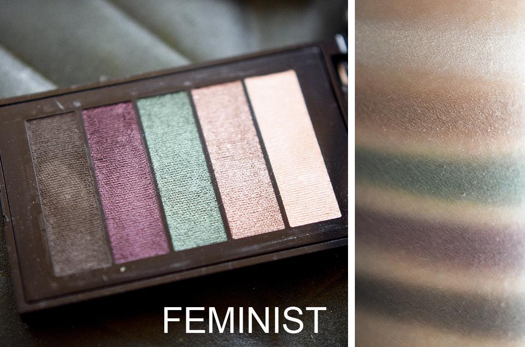 L'Oréal Paris La Petite Palette, Feminist Swatches und Pigementierung