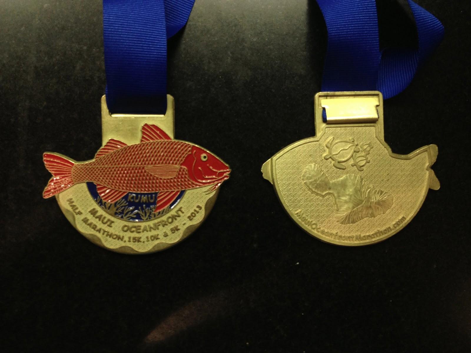 Maui Marathon 2013 Medals