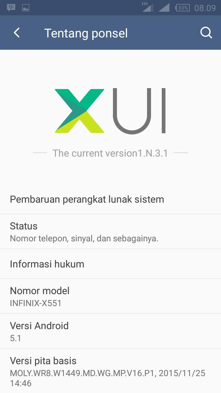 ROM XUI 1.N.3.1 Infinix Hot Note X551